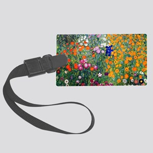 Klimt Flowers Toiletry Large Luggage Tag