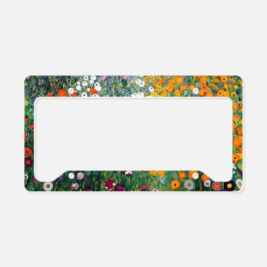 Klimt Flowers Toiletry License Plate Holder