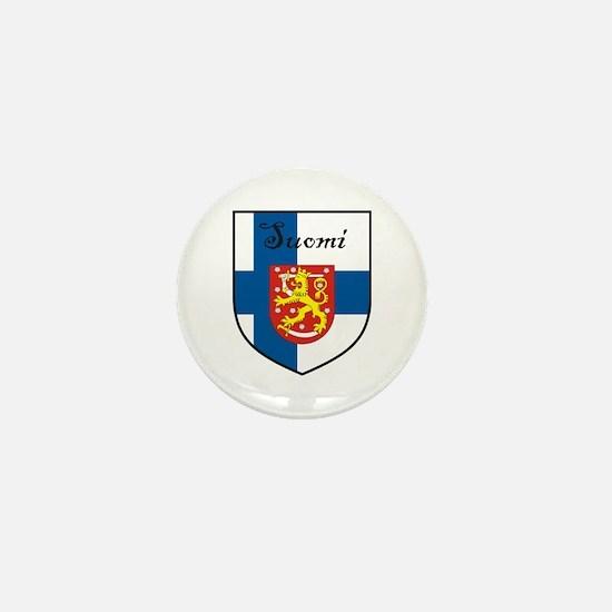 Suomi Flag Crest Shield Mini Button (10 pack)