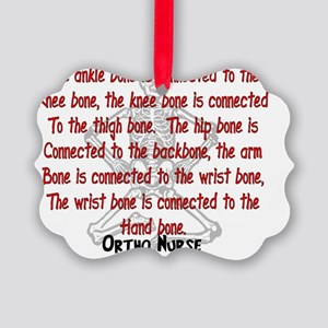 Ortho Nurse Knee bone connected t Picture Ornament