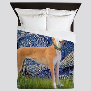 Square-Starry-Greyhound Music-stand Queen Duvet