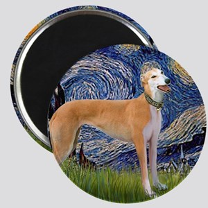 Square-Starry-Greyhound Music-stand Magnet
