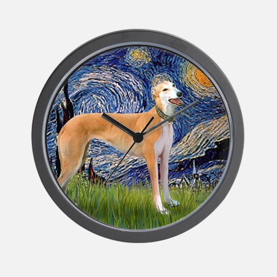Square-Starry-Greyhound Music-stand Wall Clock