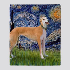 Square-Starry-Greyhound Music-stand Throw Blanket