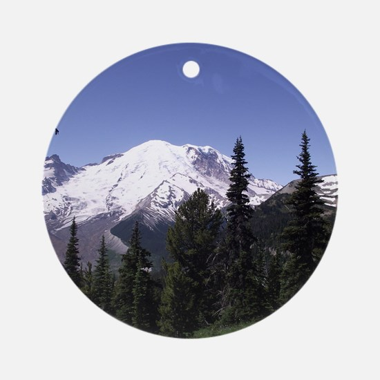 Mt. Rainier Round Ornament