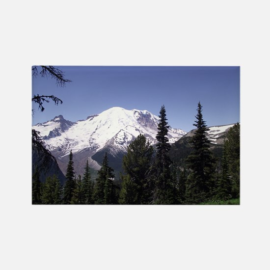Mt. Rainier Rectangle Magnet