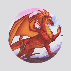 assessingdragon16x20product Round Ornament