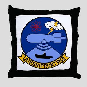 AIRSHIPRON 2 Squadron Patch Navy Insi Throw Pillow