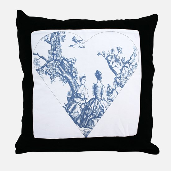 toileheartcutout Throw Pillow