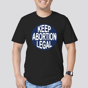 keep-abort-lgl-LTT Men's Fitted T-Shirt (dark)