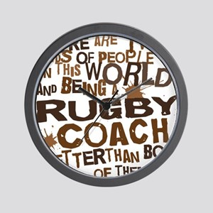 rugbycoachbrown Wall Clock