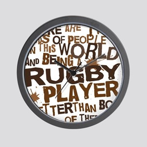 rugbyplayerbrown Wall Clock