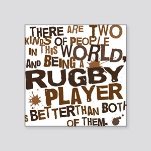 """rugbyplayerbrown Square Sticker 3"""" x 3"""""""