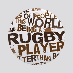 rugbyplayerbrown Round Ornament