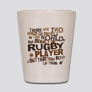 rugbyplayerbrown Shot Glass