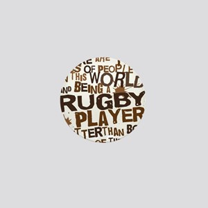 rugbyplayerbrown Mini Button
