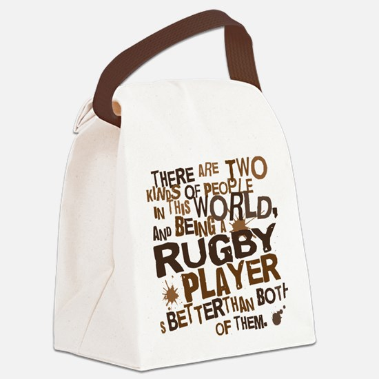 rugbyplayerbrown Canvas Lunch Bag