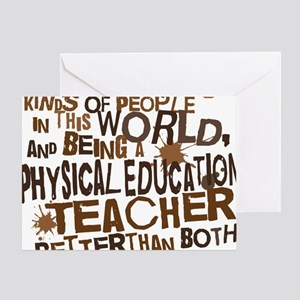 Physical education teacher greeting cards cafepress physicaleducationteacherbrown greeting card m4hsunfo