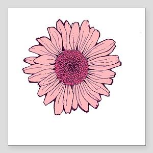 "Flower1 pink Square Car Magnet 3"" x 3"""