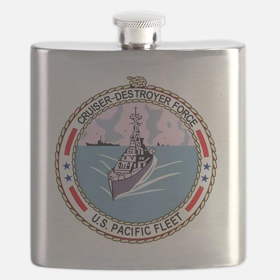 Cruiser Destroyer Force US Pacific Fleet Mil Flask