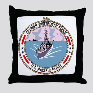 Cruiser Destroyer Force US Pacific Fl Throw Pillow