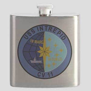 CV-11 USS INTREPID Multi-Purpose Aircraft Ca Flask