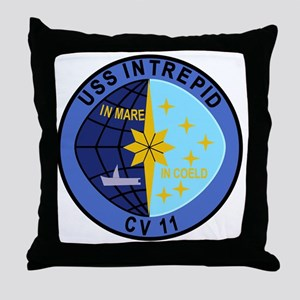CV-11 USS INTREPID Multi-Purpose Airc Throw Pillow