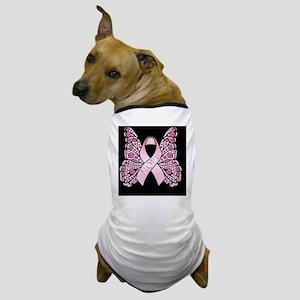 PinkHopeBflyB460ip Dog T-Shirt