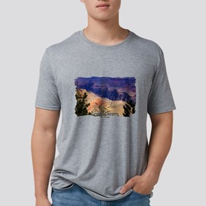 View into the Grand Canyon Mens Tri-blend T-Shirt