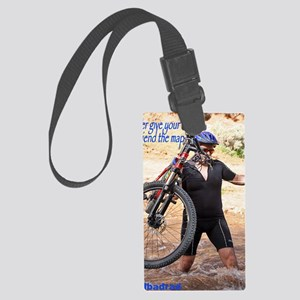 Cycling Never give your girlfrie Large Luggage Tag