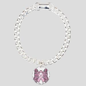 PinkHopeButterflyBtr Charm Bracelet, One Charm