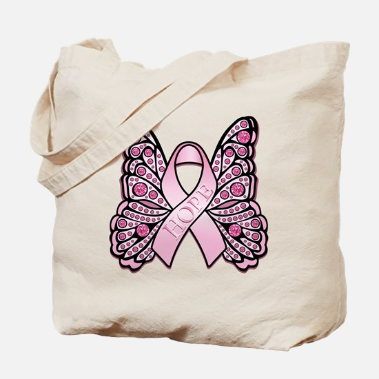 PinkHopeButterflyBtr Tote Bag