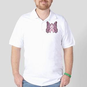 PinkHopeButterflyBtr Golf Shirt