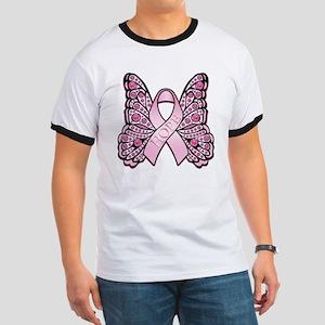 PinkHopeButterflyBtr Ringer T