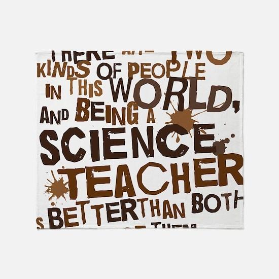 scienceteacherbrown Throw Blanket