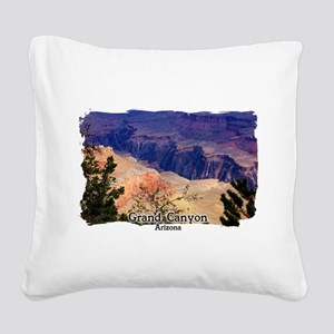 View into the Grand Canyon Square Canvas Pillow