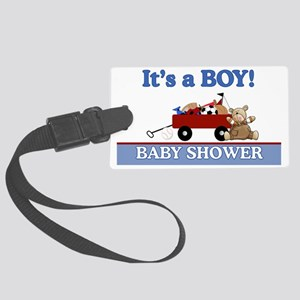 Its a Boy baby shower yard sign Large Luggage Tag