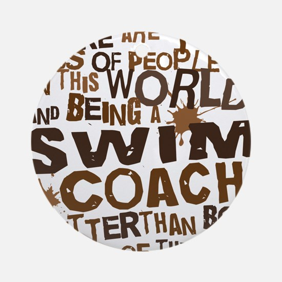 swimcoachbrown Round Ornament