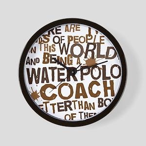 waterpolocoachbrown Wall Clock