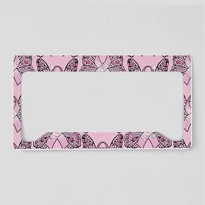 PinkHopeBttflyPPLaptop License Plate Holder