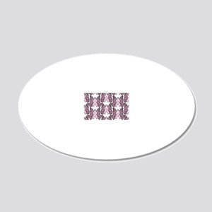 PinkHopeBttflyLaptopTR 20x12 Oval Wall Decal