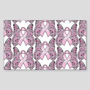 PinkHopeBttflyLaptopTR Sticker (Rectangle)
