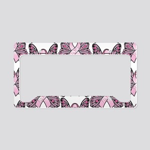PinkHopeBttflyLaptopTR License Plate Holder