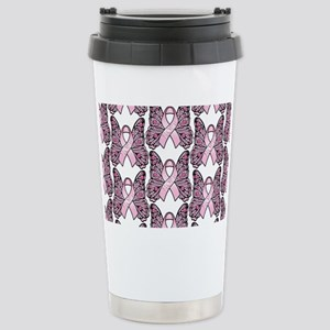 PinkHopeBttflyLaptopTR Stainless Steel Travel Mug