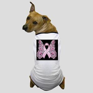 PinkHopeBttflyBLaptop Dog T-Shirt