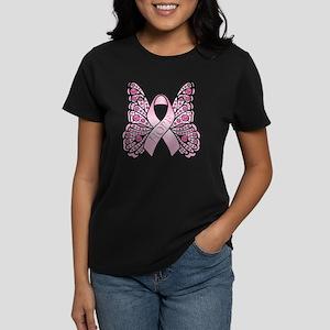 PinkHopeButterflyWsTR Women's Dark T-Shirt