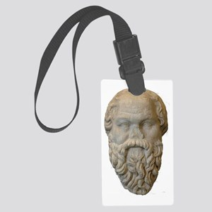 Head_Sokrates_Glyptothek_Munich Large Luggage Tag