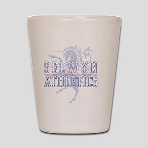 SELWYN ATHLETICS LOGO OUTLINE 083111 co Shot Glass