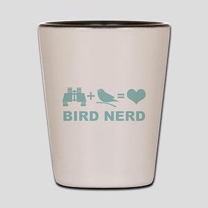 Bird Nerd Funny Birder Shot Glass