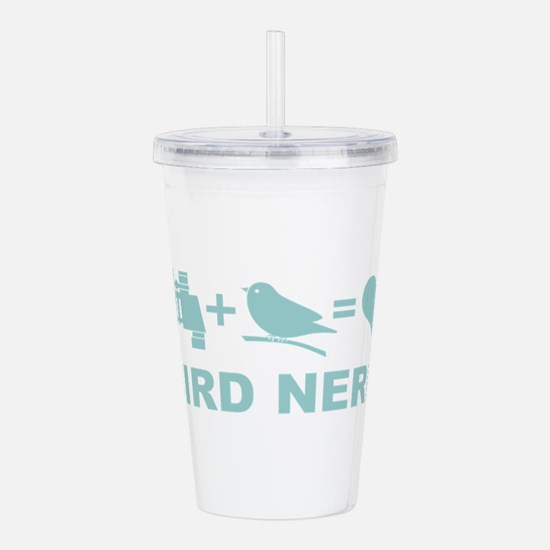 Bird Nerd Funny Birder Acrylic Double-wall Tumbler